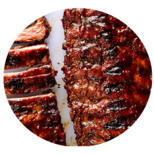 14inch rack of BBQ ribs, with slaw and BBQ sauce Florios Pizza Co - Wood Fired Pizza In A Van The Whistle Stop Liss Hampshire Petersfield Greatham Durford Wood Hill Brow Rake Hawkley Liphook